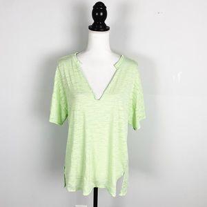 Free People Green Maddie Burnout T-Shirt